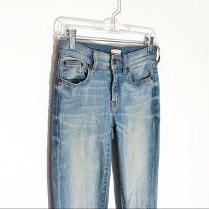 J Crew Factory Stretch Light Wash Jeggings Size 24